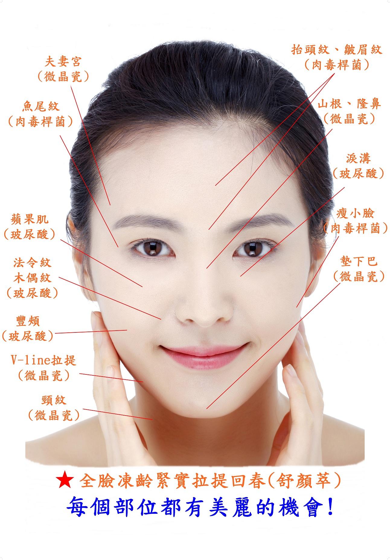 微整施打部位|新竹愛生美皮膚科醫學美容診所